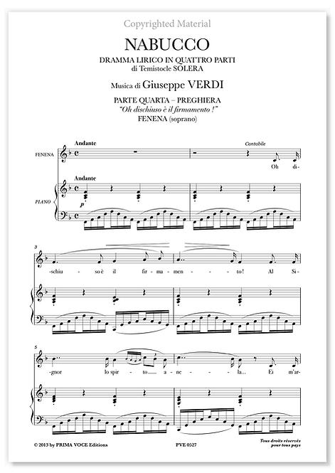 """Verdi • NABUCCO • """"Oh dischiuso è il firmamento !"""" (soprano)"""