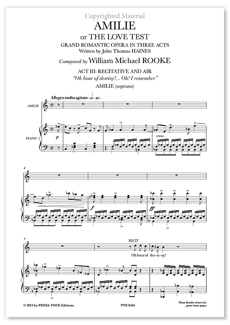 """Rooke • AMILIE or THE LOVE TEST • """"Oh hour of destiny!..."""" (soprano)"""