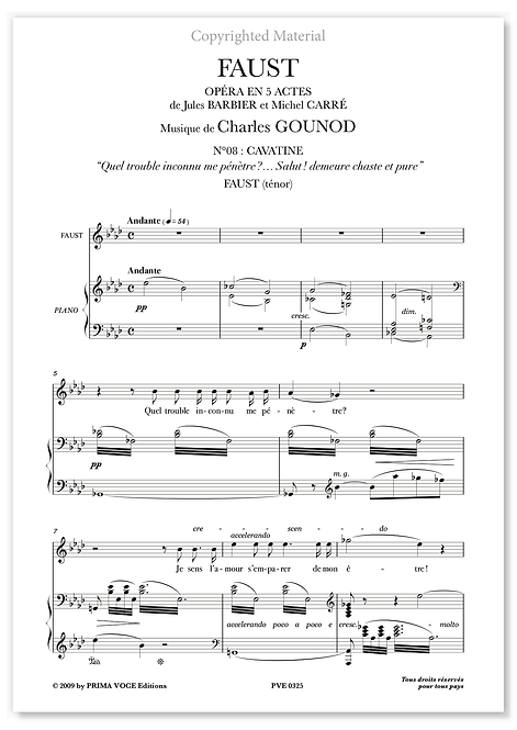 "Gounod • FAUST • ""Salut ! demeure chaste et pure"" (ténor)"