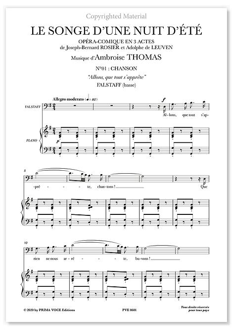 """Thomas • SONGE D'UNE NUIT D'ÉTÉ (LE) • """"Allons, que tout s'apprête"""" (basse)"""