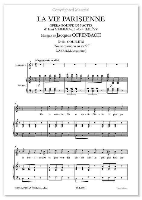 "Offenbach • VIE PARISIENNE (LA) • ""On va courir, on va sortir"" (soprano)"