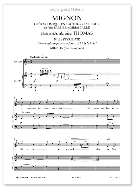 "Thomas • MIGNON • ""Je connais un pauvre enfant"" (mezzo-soprano)"