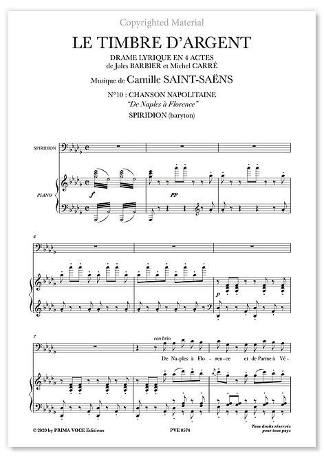 """Saint-Saëns • LE TIMBRE D'ARGENT • """"De Naples à Florence"""" (baryton)"""