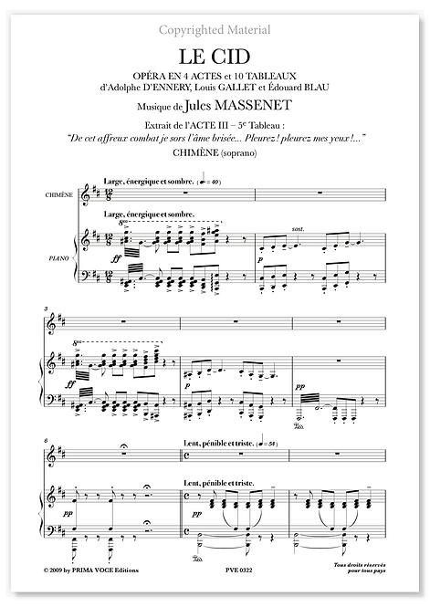 "Massenet • CID (LE) • ""Pleurez ! pleurez mes yeux !..."" (soprano)"