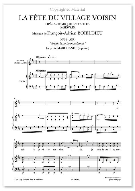 """Boieldieu • FÊTE DU VILLAGE VOISIN (LA) • """"Je suis la petite marchande""""(soprano)"""