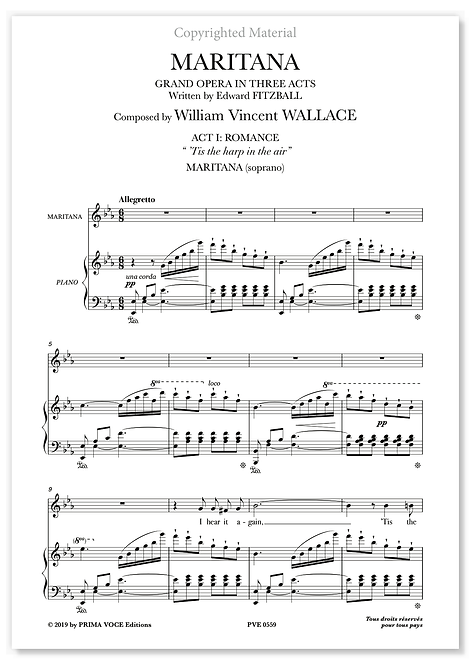 "Wallace • MARITANA •  ""'Tis the harp in the air"" (soprano)"