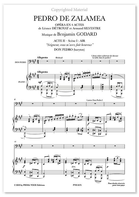 """Godard • PEDRO DE ZALAMEA  • """"Seigneur, vous m'avez fait heureux"""" (baryton)"""