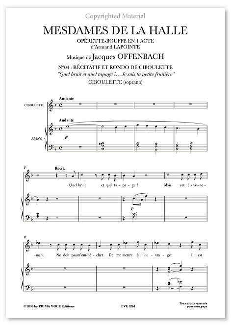 "Offenbach • MESDAMES DE LA HALLE • ""Je suis la petite fruitière"" (soprano)"