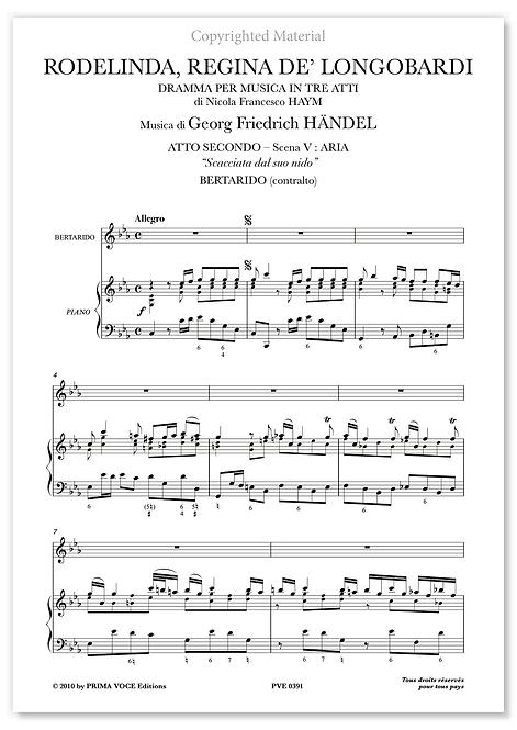 """Händel • RODELINDA, REGINA DE' LONGOBARDI • """"Scacciata dal suo nido"""" (contralto)"""