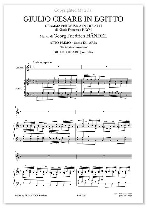 """Händel • GIULIO CESARE IN EGITTO • """"Va tacito e nascosto"""" (contralto)"""