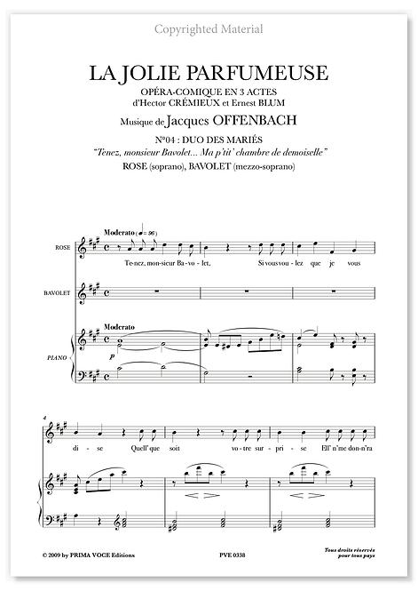 """Offenbach • JOLIE PARFUMEUSE (LA) """"Ma p'tit' chambre de demoiselle"""" (sop./mezzo)"""
