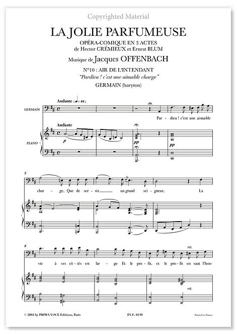 """Offenbach • JOLIE PARFUMEUSE (LA) • """"Pardieu ! c'est une aimable charge"""" (bar.)"""