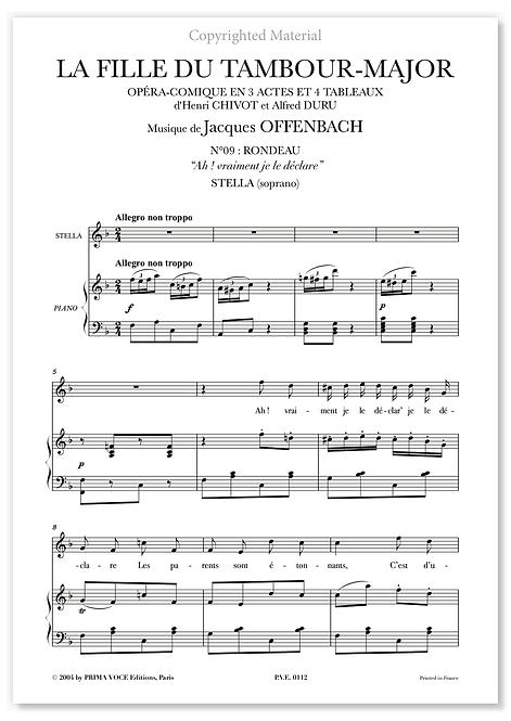 """Offenbach • FILLE DU TAMBOUR-MAJOR (LA) """"Ah ! vraiment je le déclare"""" (soprano)"""