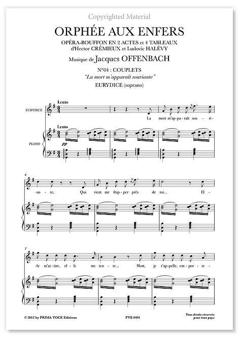 """Offenbach • ORPHÉE AUX ENFERS • """"La mort m'apparaît souriante"""" (soprano)"""