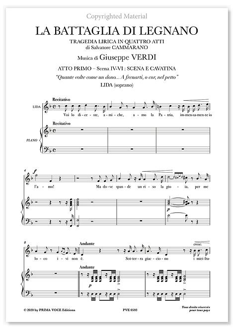 """Verdi • BATTAGLIA DI LEGNANO (LA) • """"Quante volte come un dono..."""" (soprano)"""