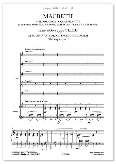 "Verdi • MACBETH • ""Patria oppressa !"" (choeurs)"