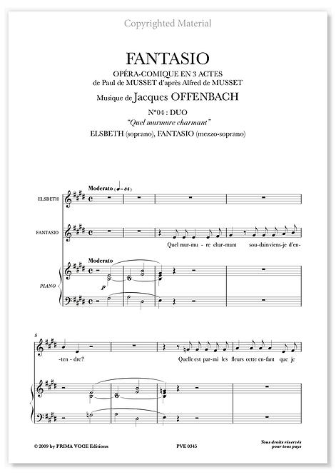 """Offenbach • FANTASIO • """"Quel murmure charmant"""" (sop./mezzo)"""