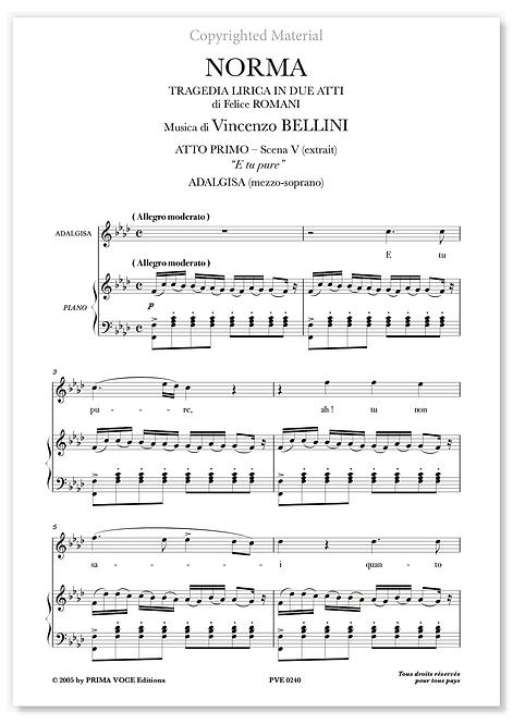 """Bellini • NORMA • """"E tu pure"""" (soprano)"""