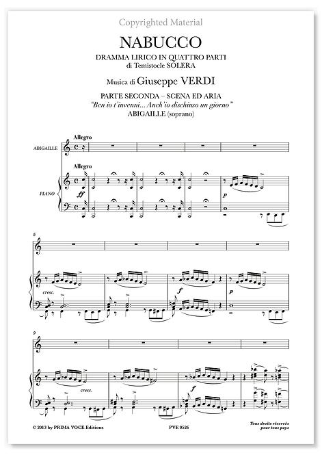 """Verdi • NABUCCO • """"Ben io t'invenni... Anch'io dischiuso un giorno"""" (soprano)"""