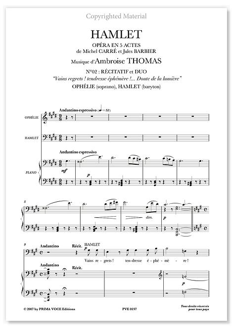 """Thomas • HAMLET • DUO """"Doute de la lumière"""" (sop./bar.)"""