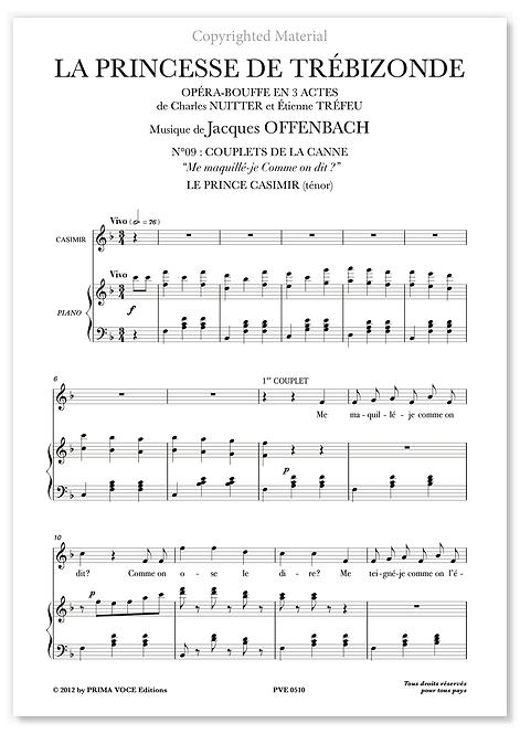 """Offenbach • PRINCESSE DE TRÉBIZONDE (LA) • """"Me maquillé-je Comme on dit?""""(tén.)"""
