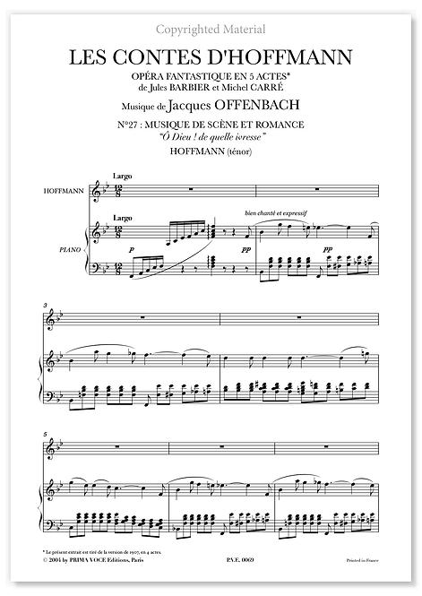 """Offenbach • CONTES D'HOFFMANN (LES) • """"Ô Dieu ! de quelle ivresse"""" (ténor)"""