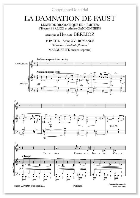 "Berlioz • DAMNATION DE FAUST (LA) • ""D'amour l'ardente flamme"" (mezzo-soprano)"