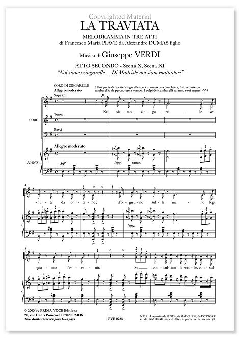"""Verdi • TRAVIATA (LA) • """"Noi siamo zingarelle…"""" (choeurs)"""