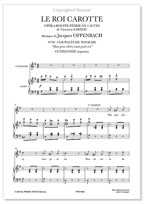 """Offenbach • ROI CAROTTE (LE) • """"Mon gros chéri, mon petit roi"""" (soprano)"""