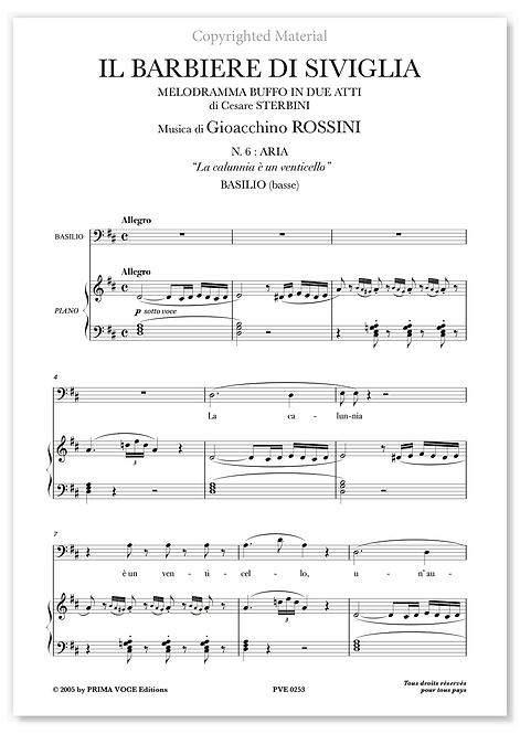 """Rossini • BARBIERE DI SIVIGLIA (IL) • """"La calunnia è un venticello"""" (basse)"""