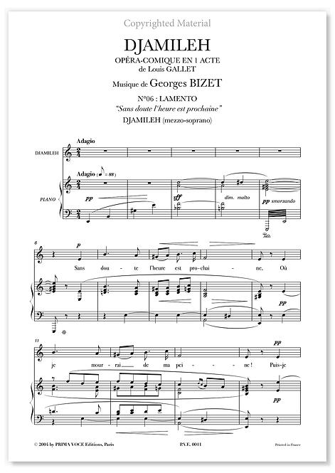 """Bizet • DJAMILEH • """"Sans doute l'heure est prochaine"""" (mezzo-soprano)"""