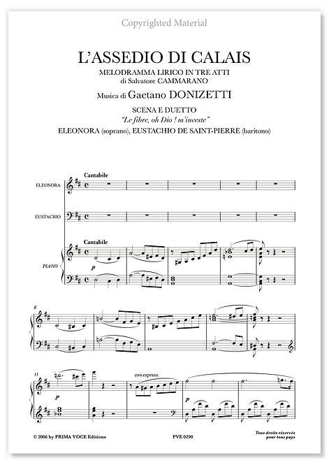 """Donizetti • ASSEDIO DI CALAIS (L') • """"Le fibre, oh Dio ! m'investe"""" (sop./bar.)"""