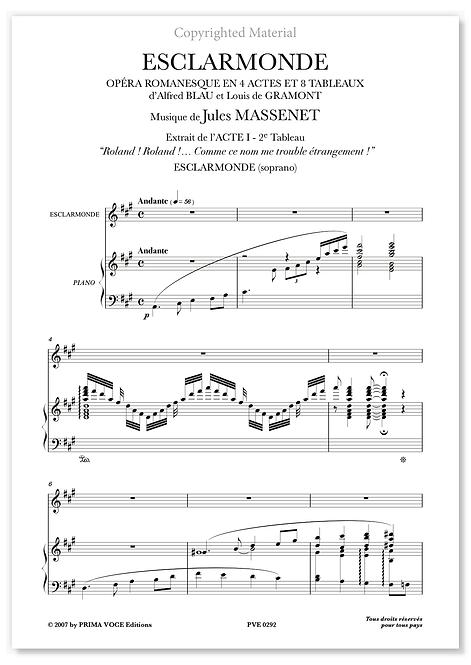 "Massenet • ESCLARMONDE • ""Roland! Roland!..."" (soprano)"