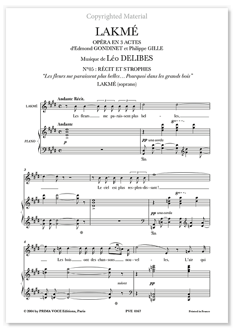 """Delibes • LAKMÉ – """"Pourquoi dans les grands bois"""" (soprano)"""