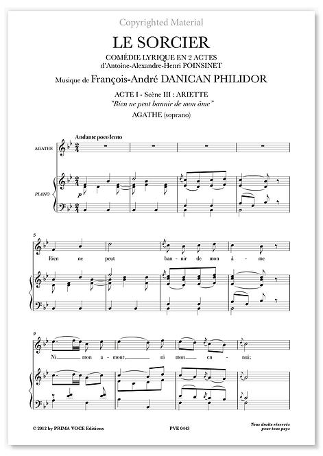 """Philidor • SORCIER (LE) • """"Rien ne peut bannir de mon âme"""" (soprano)"""
