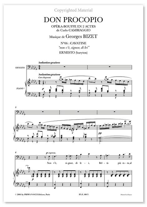 """Bizet • DON PROCOPIO • """"non v'è, signor, di lei"""" (baryton)"""