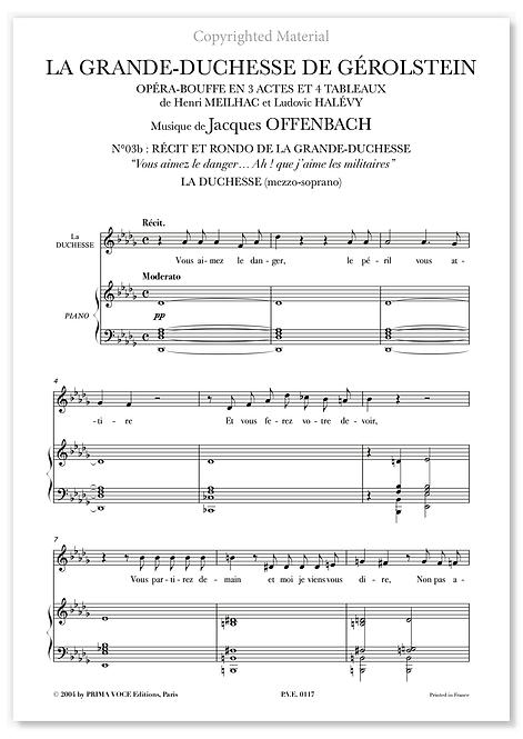 """Offenbach • GRANDE-DUCHESSE DE GÉROLSTEIN (LA)  """"Ah ! que j'aime les militaires"""""""