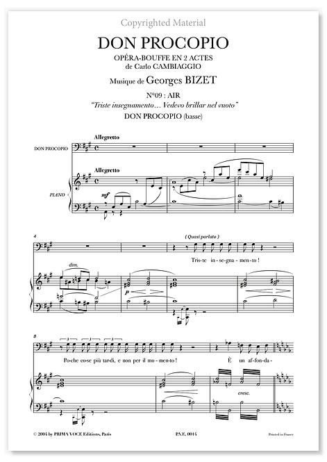 """Bizet • DON PROCOPIO • """"Vedevo brillar nel vuoto"""" (basse)"""