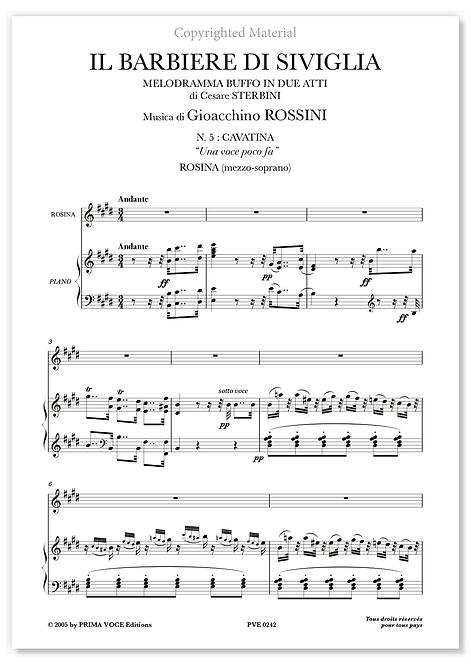 """Rossini • BARBIERE DI SIVIGLIA (IL) • """"Una voce poco fa"""" (mezzo-soprano)"""