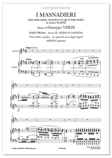 "Verdi • MASNADIERI (I) • ""Venerabile, o padre..."" (soprano)"