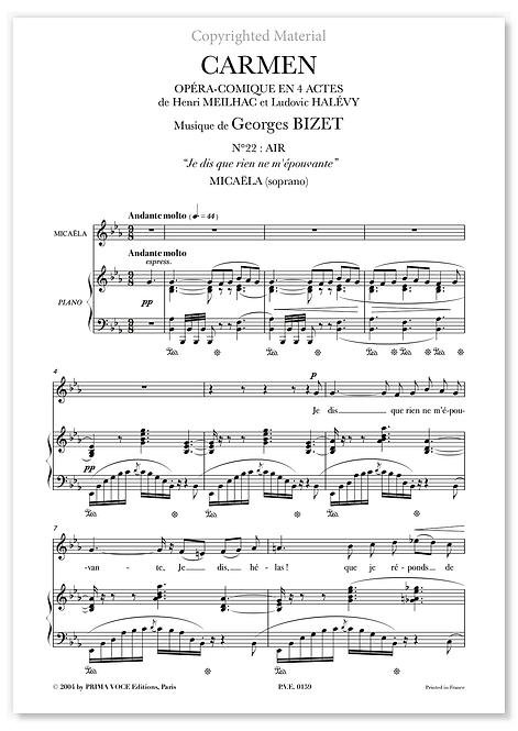 """Bizet • CARMEN • """"Je dis que rien ne m'épouvante"""" (soprano)"""