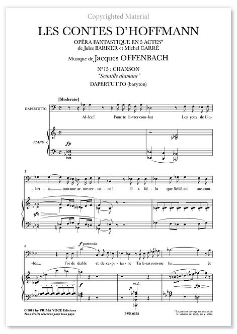 """Offenbach • CONTES D'HOFFMANN (LES) • """"Scintille diamant"""" (baryton)"""
