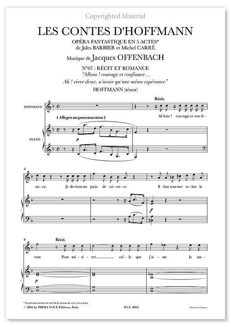 """Offenbach • CONTES D'HOFFMANN (LES) • """"Ah ! vivre deux"""" (ténor)"""
