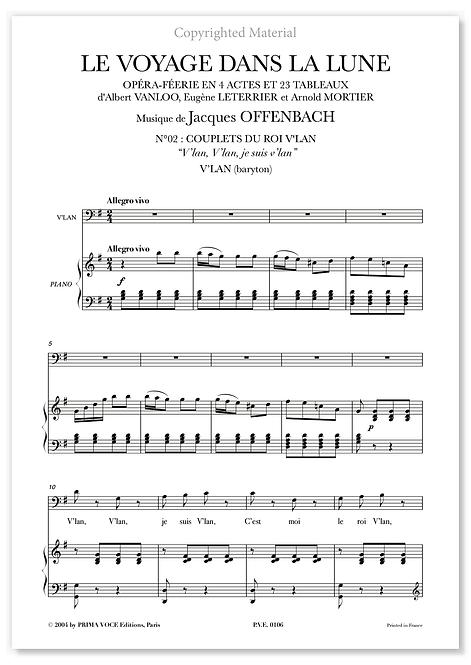 """Offenbach • VOYAGE DANS LA LUNE (LE) • """"V'lan, V'lan, je suis V'lan"""" (baryton)"""