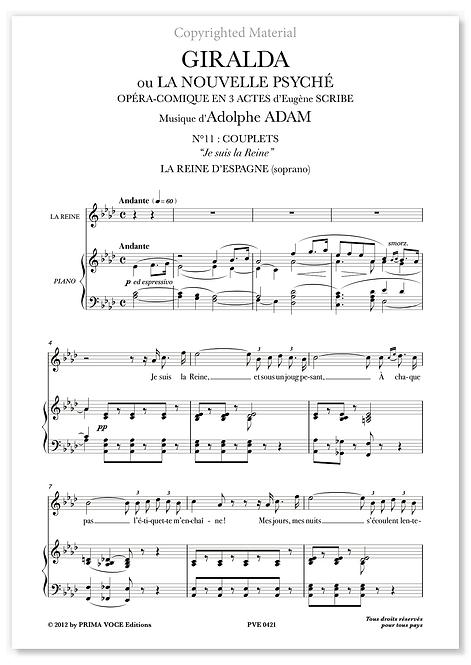 "Adam • GIRALDA • ""Je suis la Reine"" (soprano)"