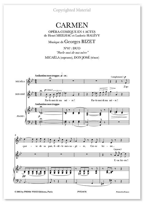 """Bizet • CARMEN • DUO """"Parle-moi de ma mère"""" (sop./tén.)"""