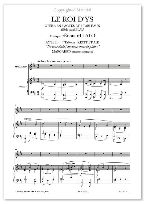 """Lalo • ROI D'YS (LE) • """"De tous côtés j'aperçois dans la plaine""""(mezzo-soprano)"""