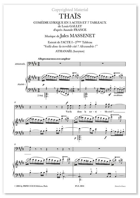 """Massenet • THAÏS • """"Voilà donc la terrible cité ! Alexandrie !"""" (baryton)"""