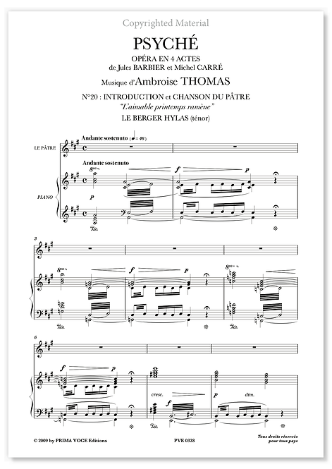 "Thomas • PSYCHÉ • ""L'aimable printemps ramène"" (ténor)"