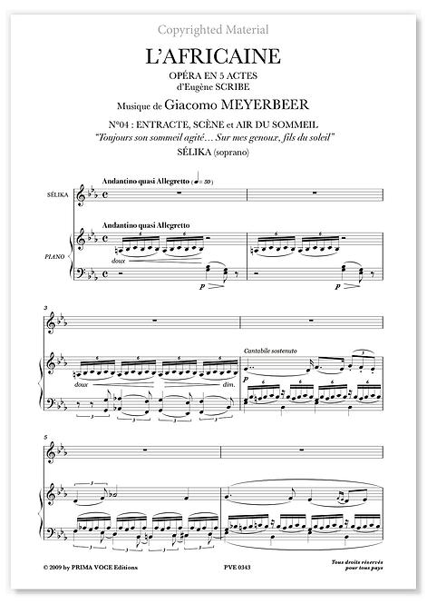 "Meyerbeer • AFRICAINE (L') • ""Sur mes genoux, fils du soleil"" (soprano)"